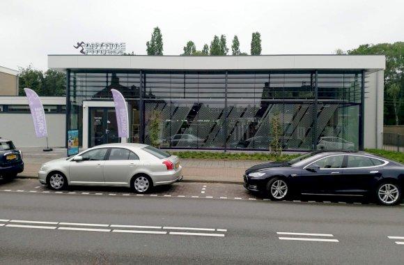 Sportschool constructieve glazen gevel