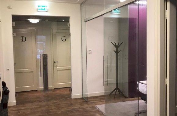 Dubbele glazen deuren met RVS beslag